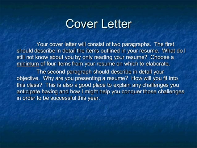 cover lettercover letter your cover letter will consist of - What Should A Cover Letter Consist Of