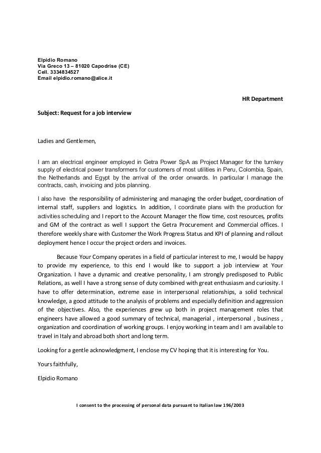COver Letter and Resume - Elpidio Romano