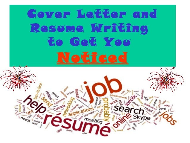 Wonderful 1 Cover Letter And Resume Writing To Get You Noticed ...