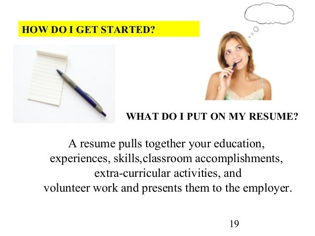 SlideShare  How To Make A Resume For High School Students