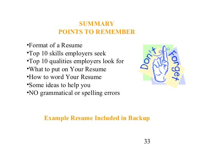 33 - How To Write A Resume For Highschool Students