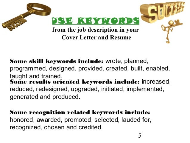 ... Personality J O B; 5. 5 Some Skill Keywords ...  It Resume Keywords