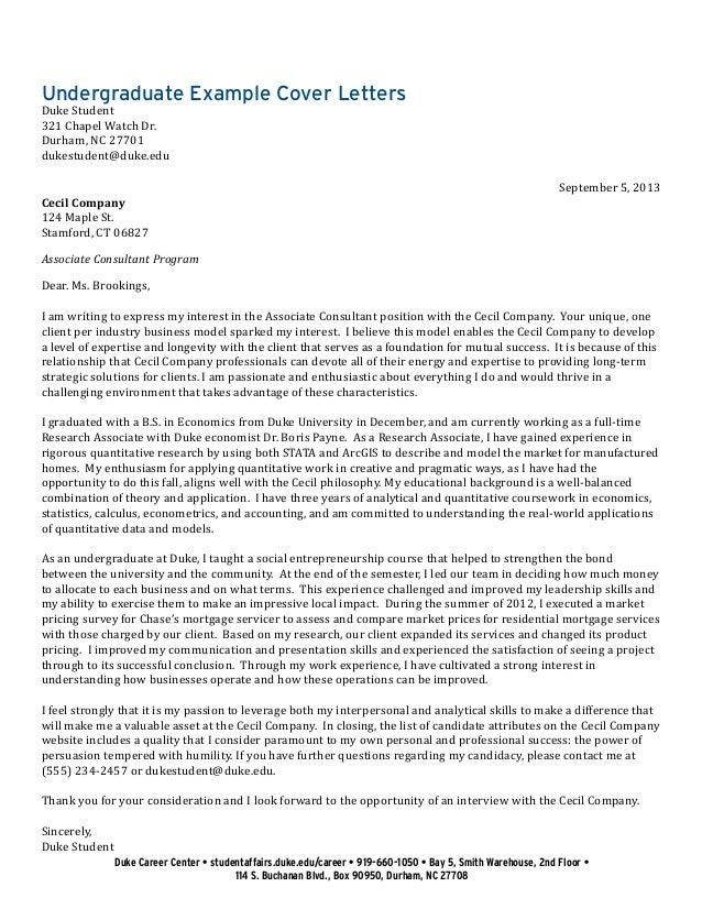 Cover Letter For Academic Job In Economics - Cover letter