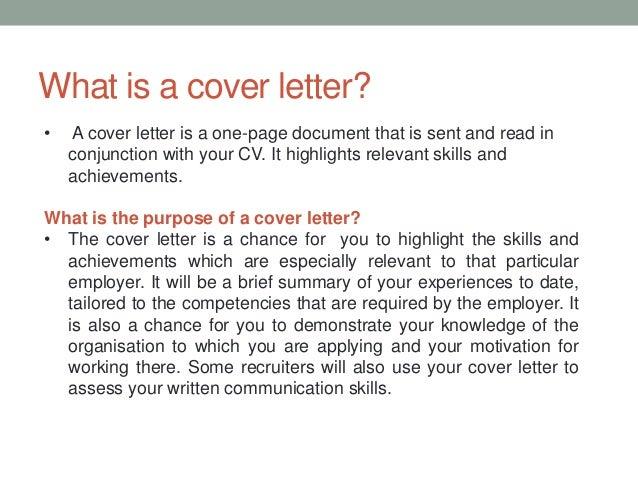 Cover Letter CV Writing