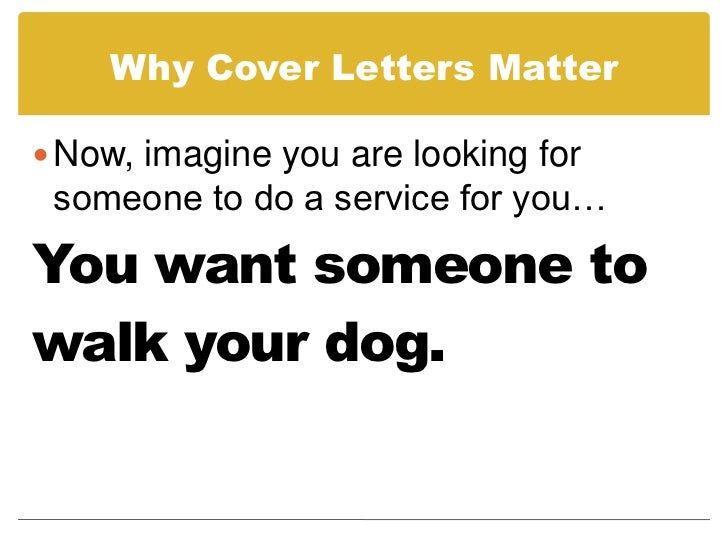 ... 3. Why Cover Letters ...  How To Prepare A Cover Letter