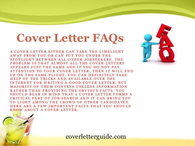 Cover Letter Faqs. Resume Cover Letter Ppt Reference Letter School