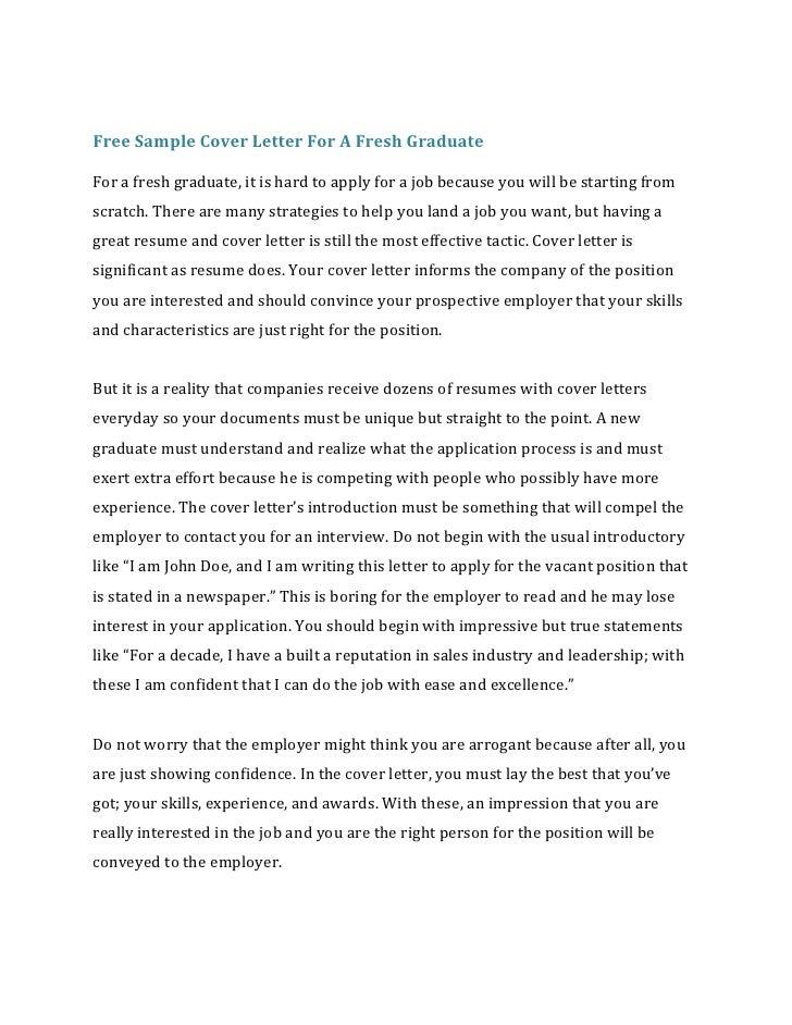 Cover letter job application fresh graduate Universal Essay