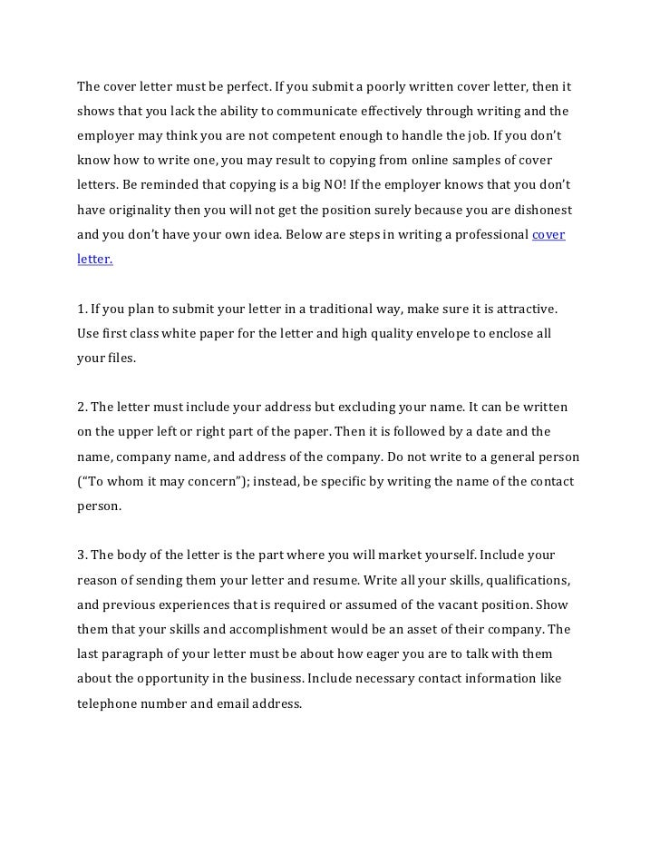 How to write a cover letter for a resume for How to write a cover letter for writing submissions