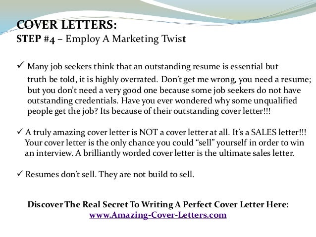 how to write the perfect cover letter for a job