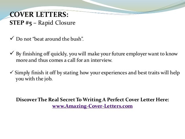 a perfect cover letter