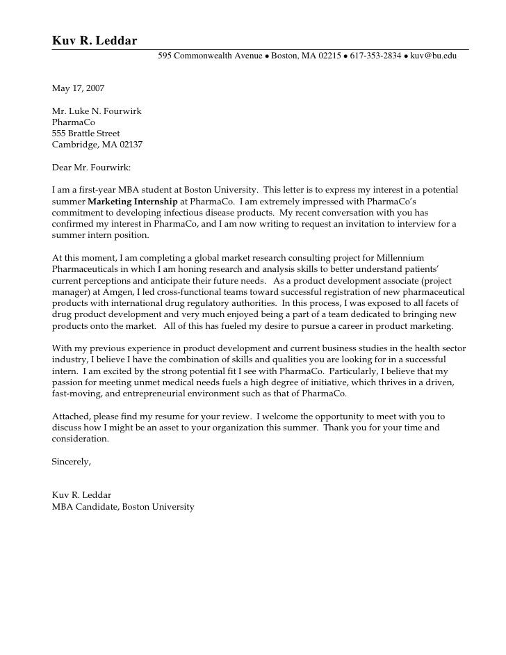 Finance Internship Cover Letter, Sample Finance Internship Cover