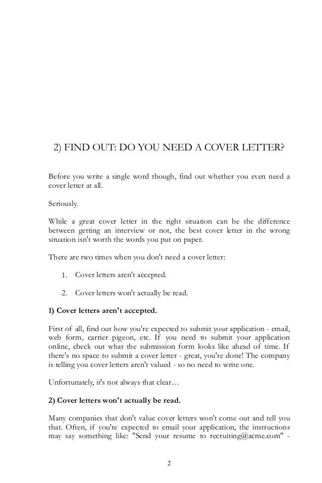 what to say on a cover letters