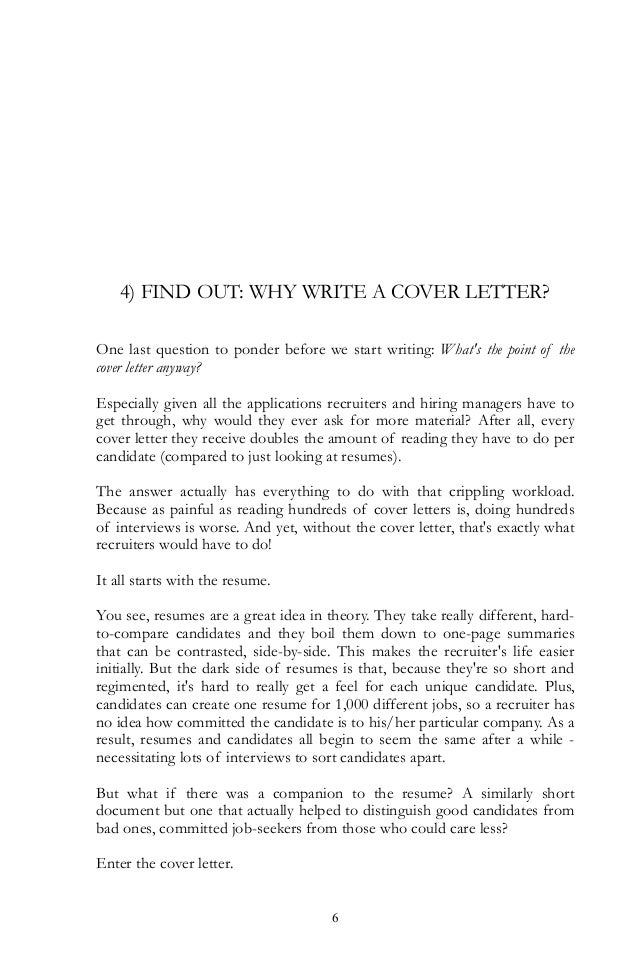 what to have in a cover letter