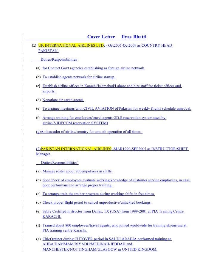 Cover Letter Ilyas Bhatti