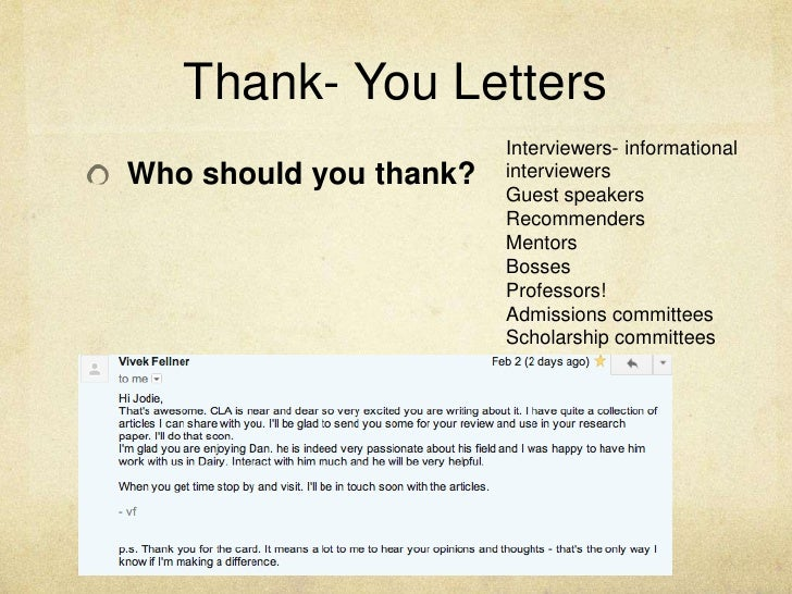 Thank You Letter To Recommender Images Letter Format Formal Sample
