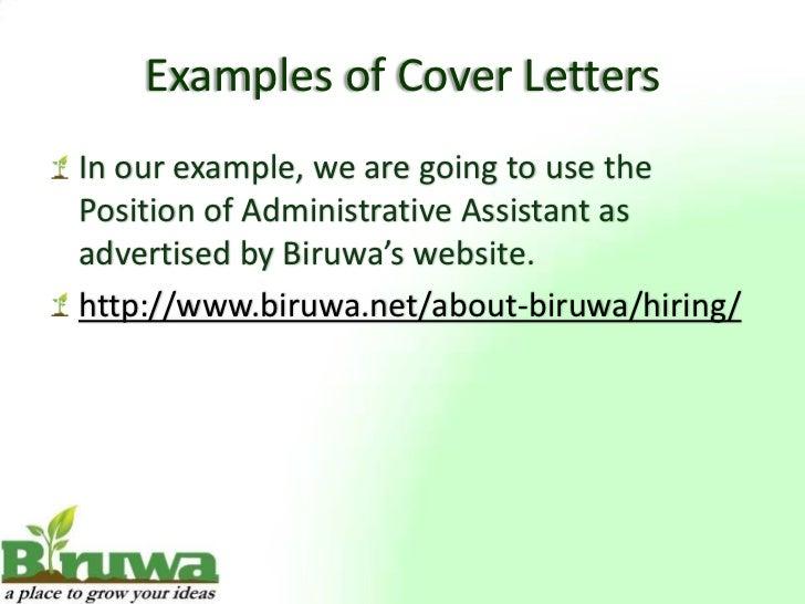 ... Relevant Information; 11.  Letter Of Presentation