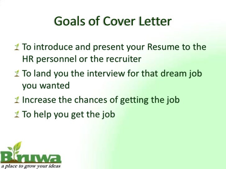 4 goals of cover - Picture Of A Cover Letter