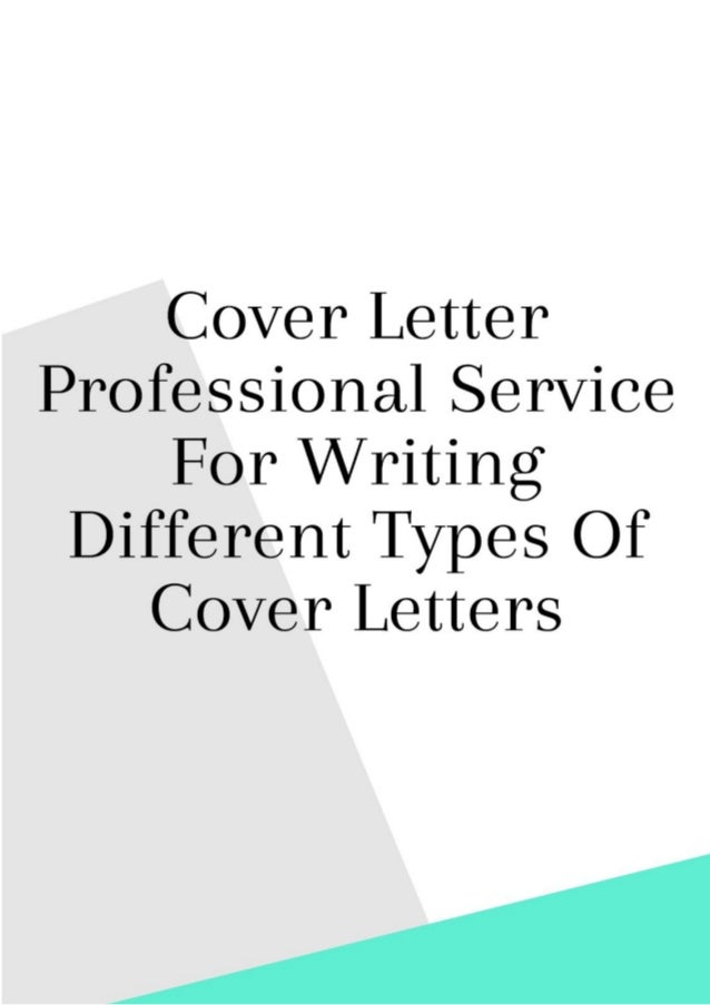 Cover Letter Professional Service for Writing Different ...