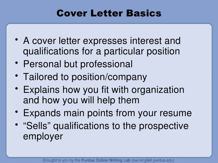 cover letter - How To Write A Cover Letter Purdue