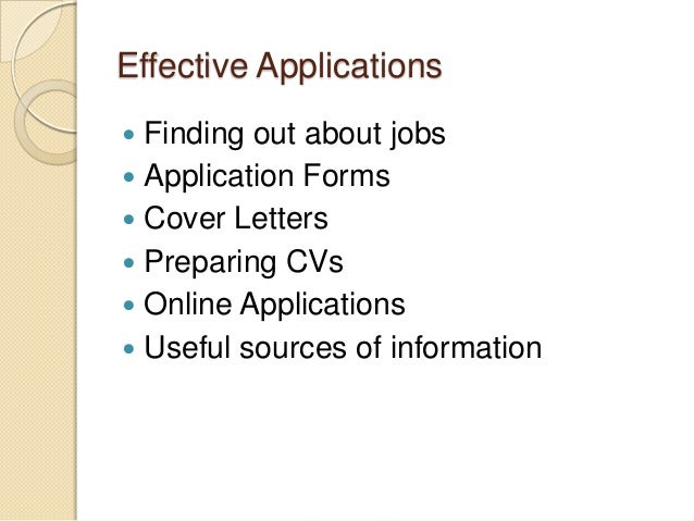 cover letter for online applications