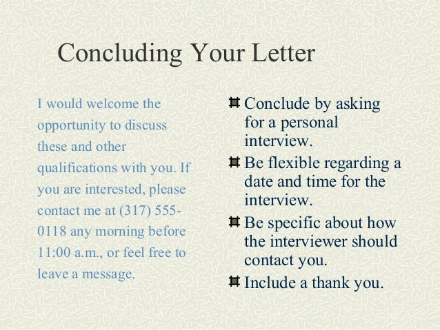 concluding your letter concluding a cover letter