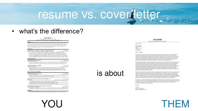 4 resume vs cover letter - Resume Vs Cover Letter