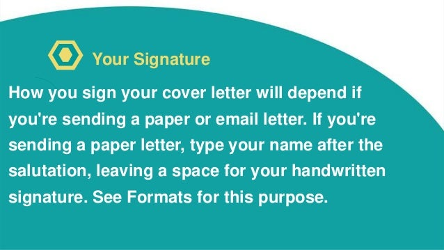 do you sign your cover letters