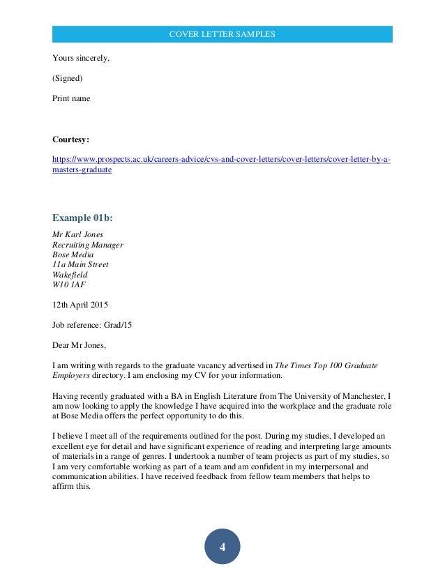 cover letter university of manchester