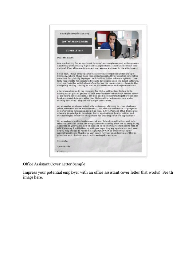 9 Office Assistant Cover Letter Every