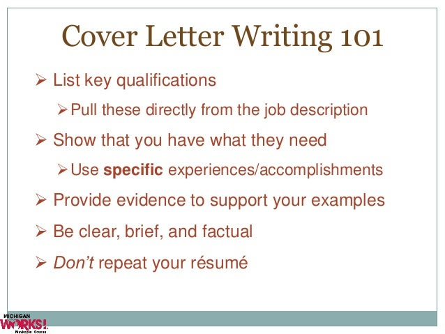 ex of cover letters