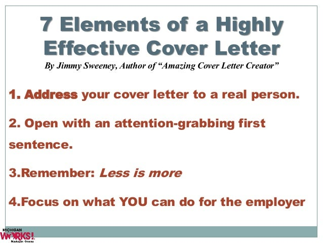 20 7 elements of a highly effective cover letter