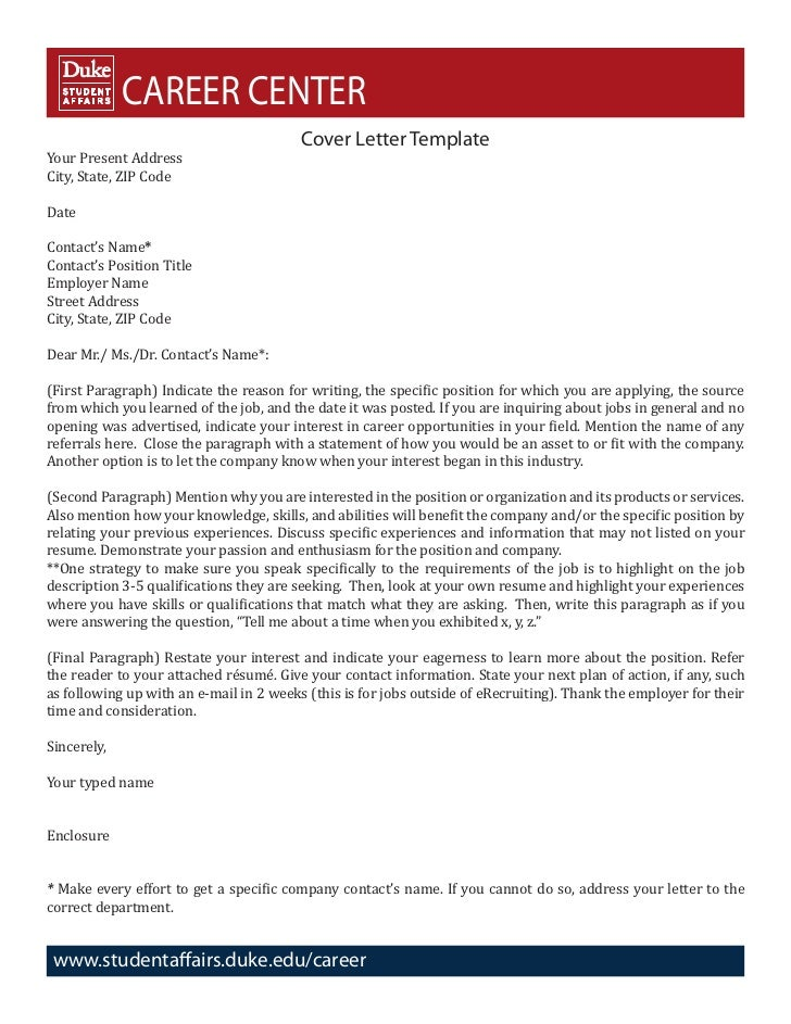 cover letter address format