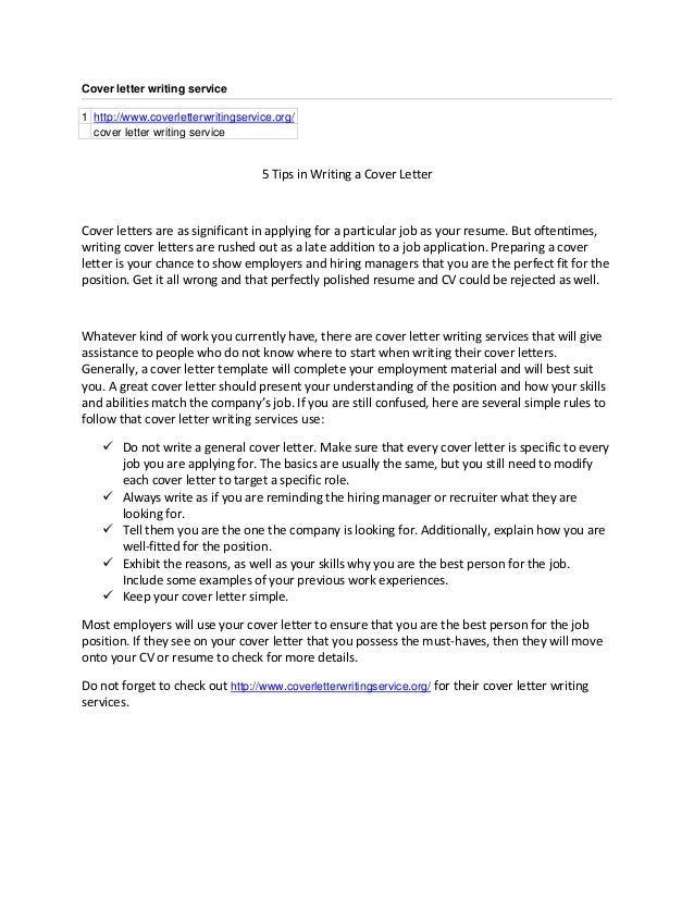 Resume Cover Letter Service from image.slidesharecdn.com