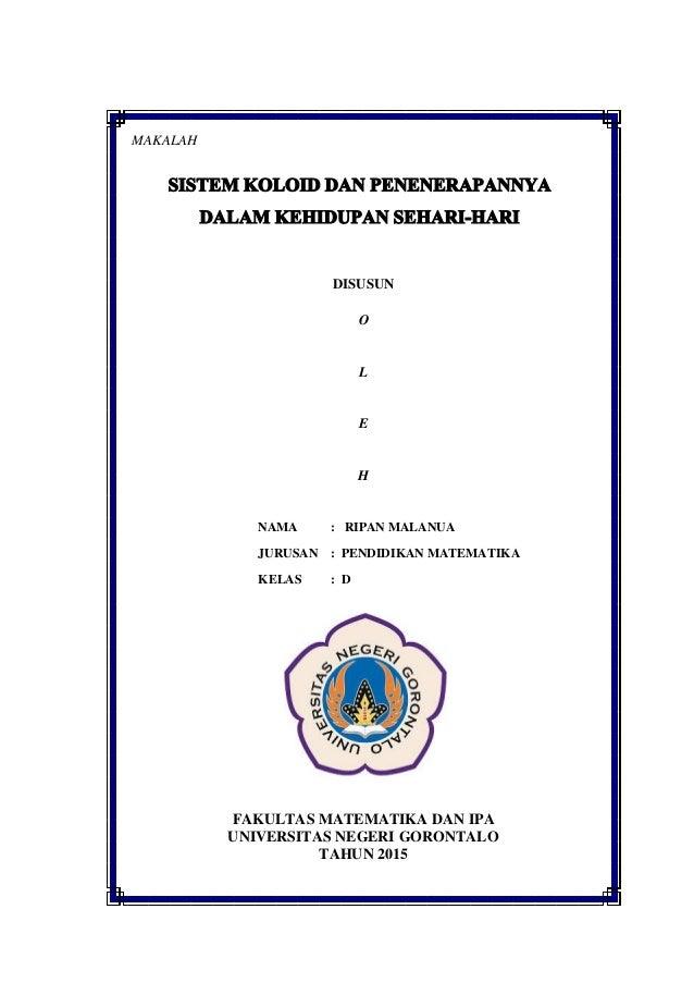 Cover Makalah Koloid