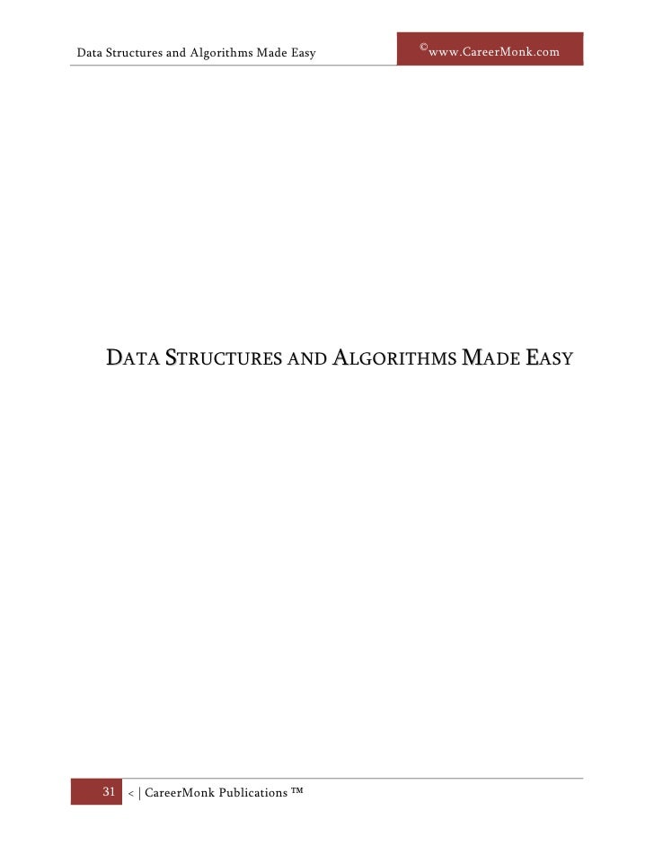 Data structures and algorithms by narasimha karumanchi