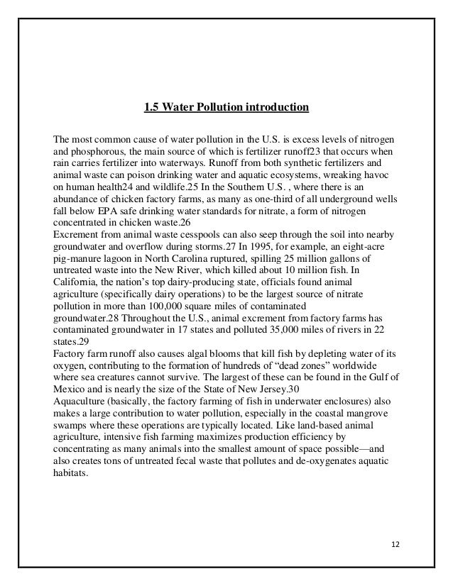 Water Pollution Project For College Pdf In Marathi