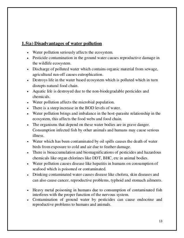 Air pollution disadvantages essay