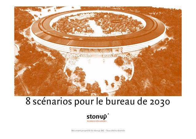 8 scénarios pour le bureau de 2030 BUSINESS INTELLIGENCE Document propriété de stonup SAS – Tous droits réservés