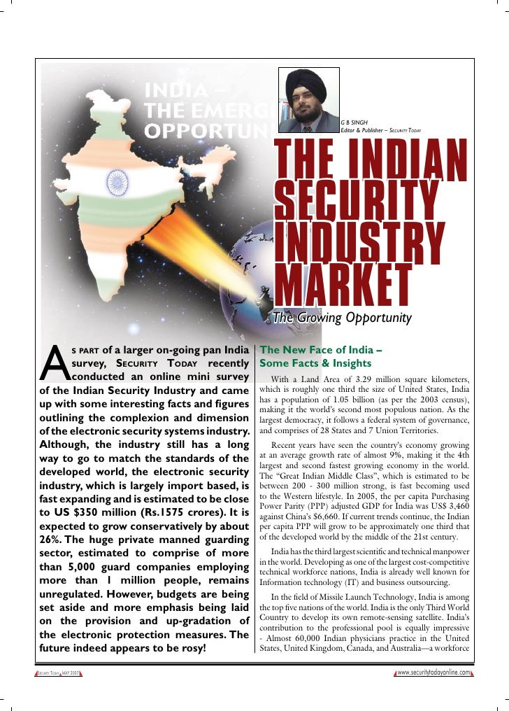 G B SINGH                                                                             Editor & Publisher – Security today ...