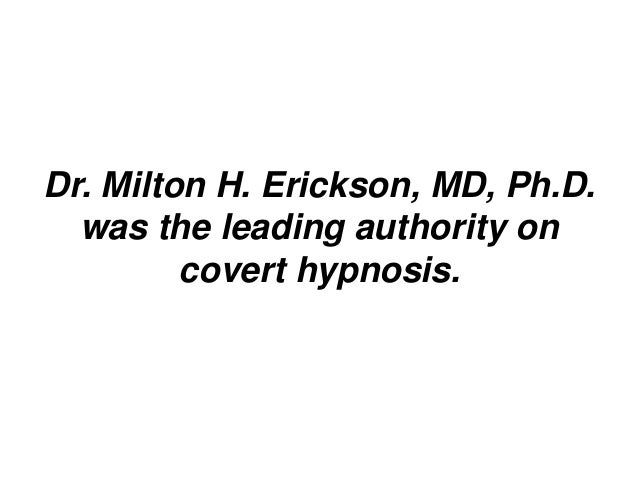 Covert hypnosis exposed power of conversational hypnosis slideshare - 웹