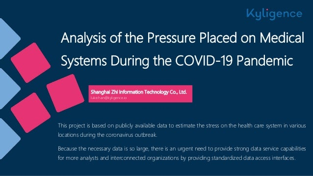 Analysis of the Pressure Placed on Medical Systems During the COVID-19 Pandemic Shanghai Zhi Information Technology Co., L...
