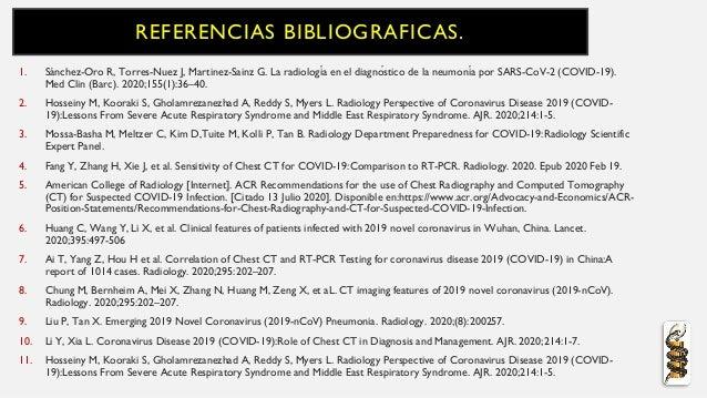 REFERENCIAS BIBLIOGRAFICAS. 1. Sánchez-Oro R, Torres-Nuez J, Martinez-Sainz G. La radiología en el diagnóstico de la neu...