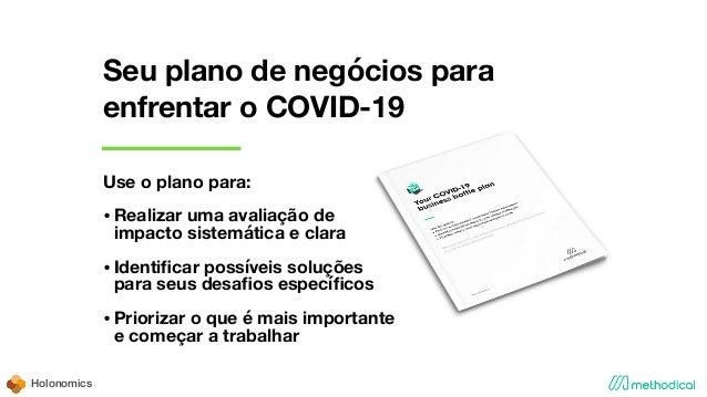 Holonomics Seu plano de negócios para enfrentar o COVID-19 Use o plano para: •Realizar uma avaliação de impacto sistemátic...