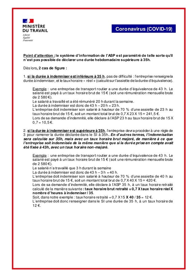 Coronavirus (COVID-19) Point d'attention : le système d'information de l'ASP est paramétré de telle sorte qu'il n'est pas ...