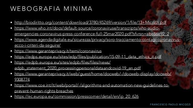 F R A N C E S C O PA O L O M I C O Z Z I W E B O G R A F I A M I N I M A • http://biodiritto.org/content/download/3780/452...