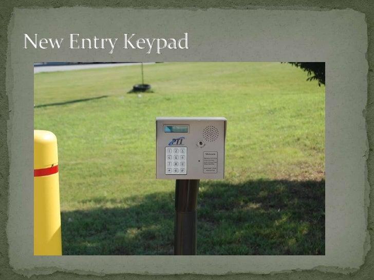 New Entry Keypad<br />