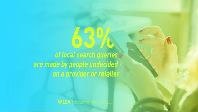 Study: 63% of Local Searches Made by People Undecided on a Provider or Retailer