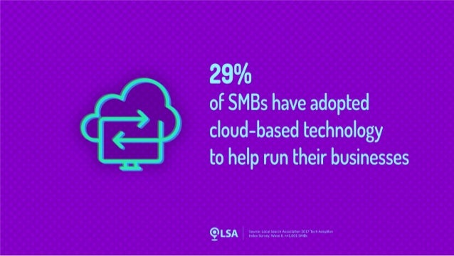 Study: 29% of SMBs Have Adopted Cloud-Based Technology to Help Run Their Business