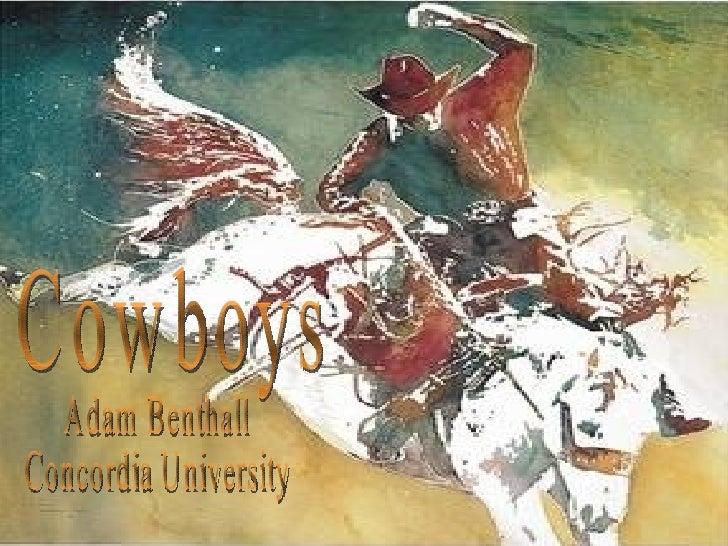 Cowboys Adam Benthall Concordia University
