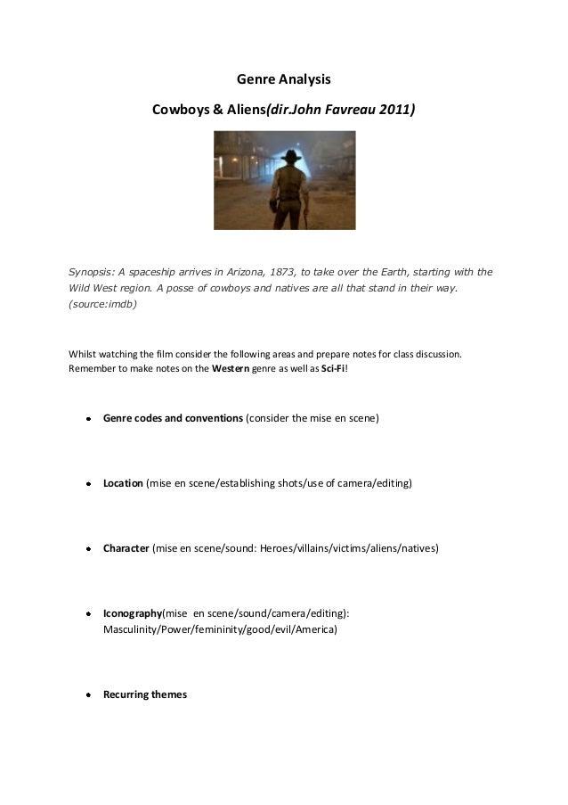 Cowboys aliens genre_analysis
